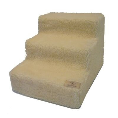 Best Pet Supplies Pet Stairs In White Lambswool Amp Reviews
