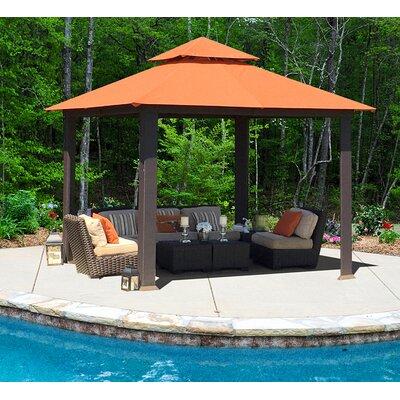 Garden Furniture Gazebo stc savannah 10 ft. w x 10 ft. d metal permanent gazebo & reviews