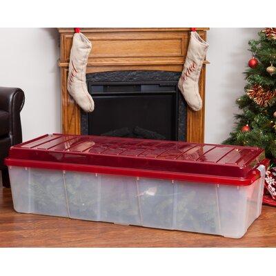 IRIS Christmas Tree Plastic Storage Tote Reviews Wayfair - Christmas Tree Storage Containers