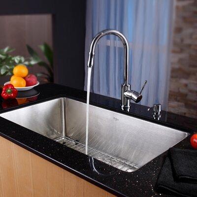Kraus 32 X 19 Undermount Kitchen Sink With Faucet And Soap Dispenser Reviews Wayfair