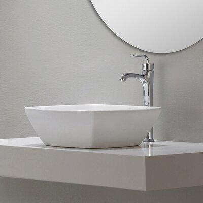 Kraus Elavo™ Ceramic Flared Square Vessel Bathroom Sink & Reviews ...