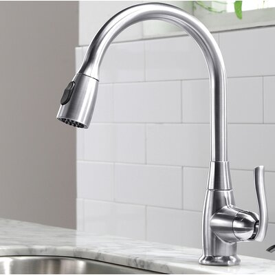 Kraus Premium Faucets Pull Down Single Handle Kitchen Faucet U0026 Reviews |  Wayfair