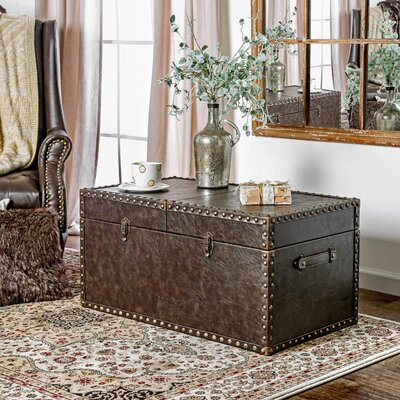 hokku designs rotterdam leather storage entryway bench u0026 reviews wayfair