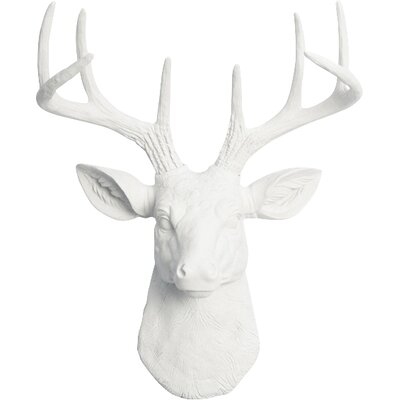 Deer Wall Decor white faux taxidermy the mini templeton small faux deer head wall