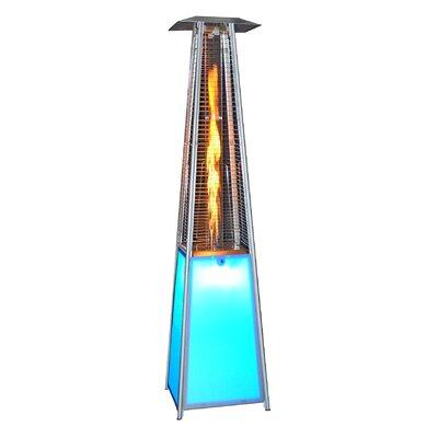 SUNHEAT LED Light Portable 40,000 BTU Propane Patio Heater U0026 Reviews |  Wayfair