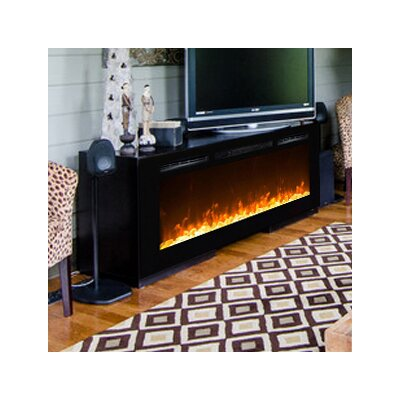 Moda Flame Cynergy Crystal Stone Built-In Wall Mount Electric Fireplace |  Wayfair