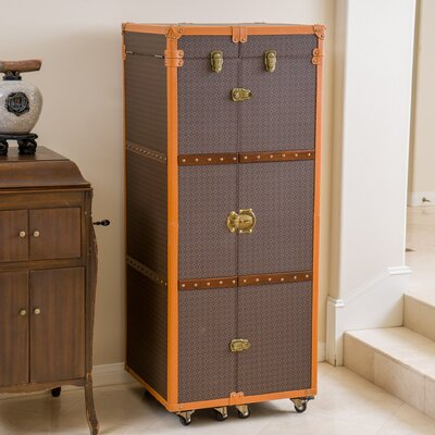 Home Loft Concepts Brisco Rolling Bar Cabinet with Wine Storage ...