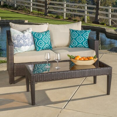Delightful Home Loft Concepts Dragoon 2 Piece Outdoor Loveseat U0026 Table U0026 Reviews |  Wayfair