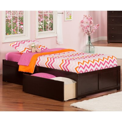andover mills mackenzie extra long twin platform bed with storage reviews wayfair - Extra Long Twin Bed Frame
