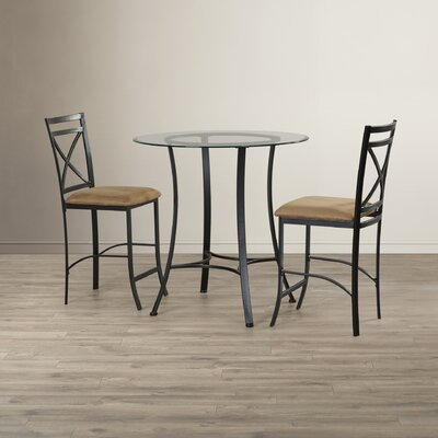 Andover Mills Boxwood 3 Piece Counter Height Dining Set U0026 Reviews | Wayfair