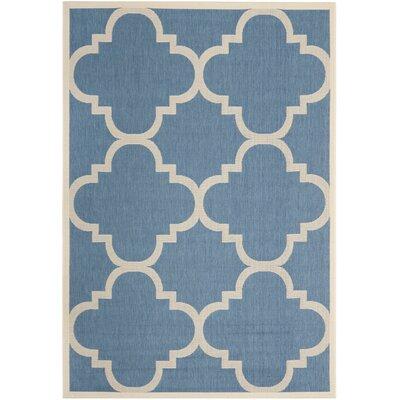 Winston Porter Short Lattice Blue/Beige Rug U0026 Reviews | Wayfair