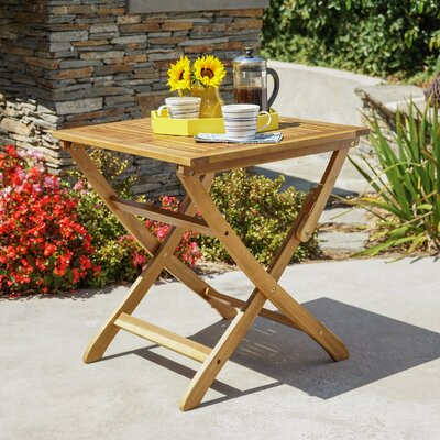 Andover Mills Charlemont Outdoor Foldable Wood Bistro Table U0026 Reviews    Wayfair