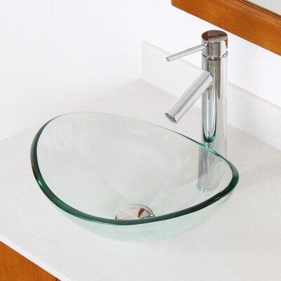 Bathroom Sinks Glass elite mini tempered glass boat oval vessel bathroom sink & reviews