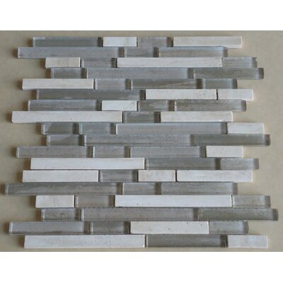 mulia tile parallel random sized marble and glass mosaic tile in grey and cream u0026 reviews wayfair