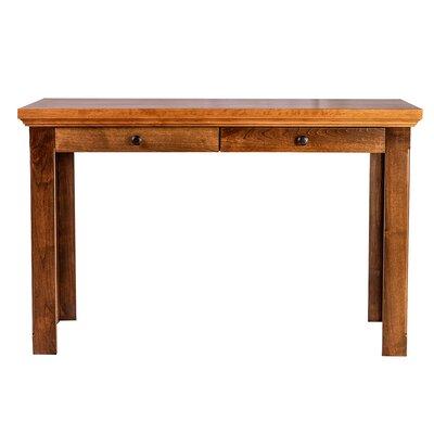 forest designs 60 w knob drawer writing desk wayfair - Designer Writing Desk