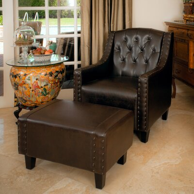 - Three Posts Chris Leather Club Chair And Ottoman & Reviews Wayfair
