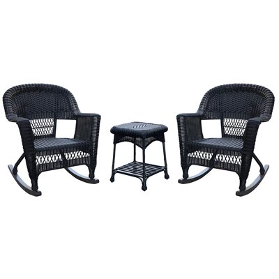 Three Posts Bush 3 Piece Wicker Rocker Seating Group U0026 Reviews | Wayfair