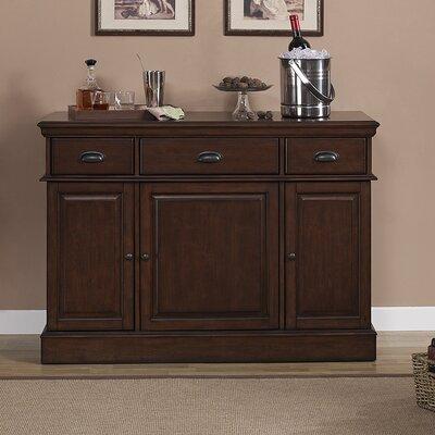American Heritage Gabriella Bar Cabinet with Wine Storage ...