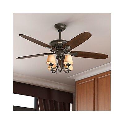 """Hunter Fan 54"""" Cortland 5 Blade Ceiling Fan & Reviews"""