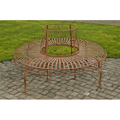 Home haus iron circular tree bench wayfair uk Circular tree bench