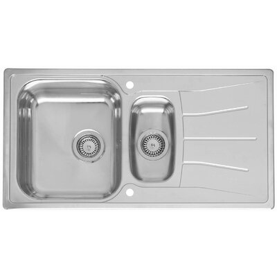 reginox 95cm x 50cm kitchen sink reviews wayfair uk