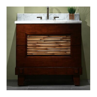 xylem bambu 36 bathroom vanity cabinet in dark bamboo