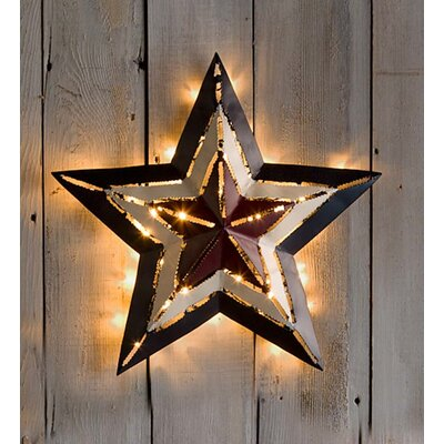 Lighted Pictures Wall Decor plow & hearth lighted americana star wall décor & reviews | wayfair