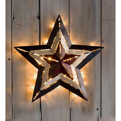 Lighted Wall Decor plow & hearth lighted americana star wall décor & reviews | wayfair