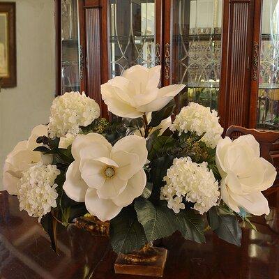 Floral Home Decor Magnolia And Hydrangea Large Silk Flower Arrangement Reviews Wayfair