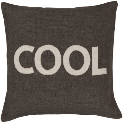 Surya charmingly cool jute throw pillow wayfair for Cool couch pillows