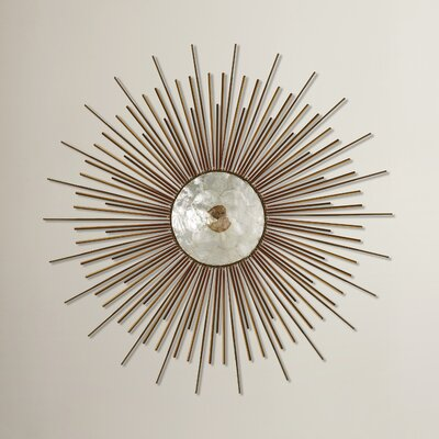 Circle Wall Decor mercury row metal capiz wall decor & reviews | wayfair