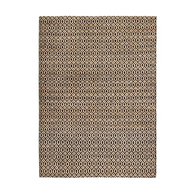 Black And Tan Area Rugs union rustic shyla hand-woven black/tan area rug & reviews | wayfair