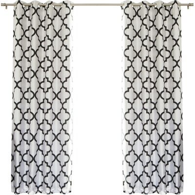 Home fashion inc moroccan tile blackout thermal single curtain panel