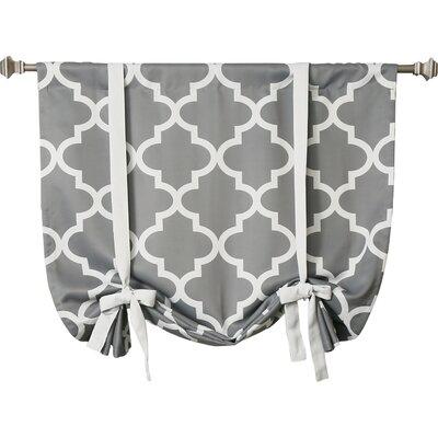 Best Home Fashion, Inc. Moroccan Print Room Darkening Tie-Up Shade ...