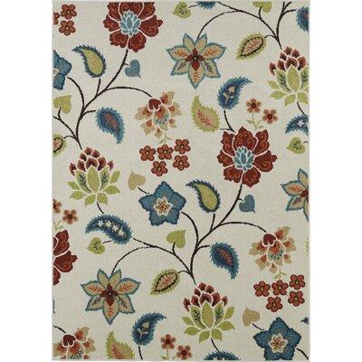 Mayberry Rug Lifestyles Ivory Garden Chintz Indoor/Outdoor Area Rug U0026  Reviews | Wayfair