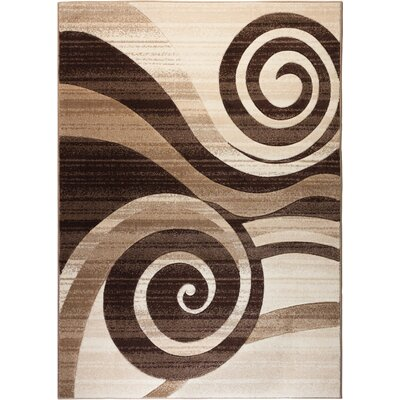 Red Barrel Studio Waynesfield Whirlwind Brown Area Rug U0026 Reviews | Wayfair