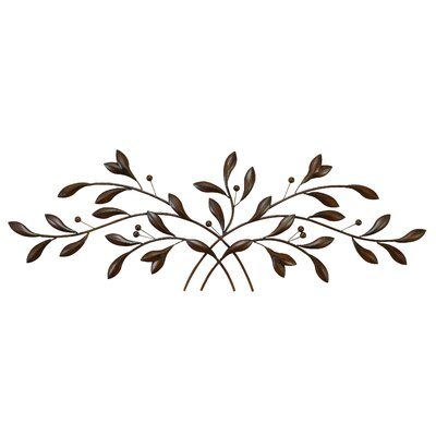 Metal Leaves Wall Decor red barrel studio metal leaf with berries wall décor & reviews