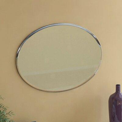 Oval Wall Mirrors red barrel studio frameless oval wall mirror & reviews | wayfair