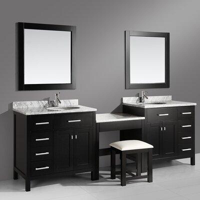 """Bathroom Vanities Quincy Ma red barrel studio halcomb 102"""" double bathroom vanity set with"""