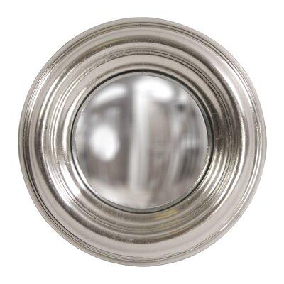Convex Wall Mirror red barrel studio round metallic silver convex wall mirror