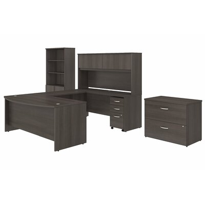 bush business furniture studio c 7 piece u shaped desk office suite u0026 reviews wayfairca