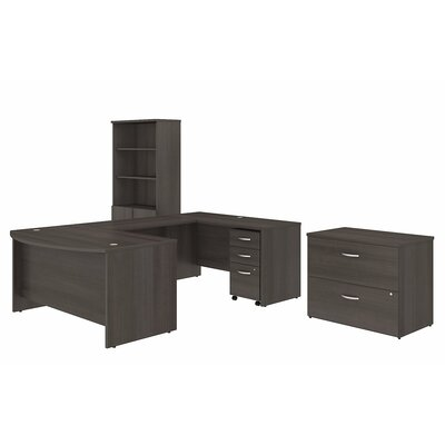 bush business furniture studio c 3 piece u shaped desk office suite u0026 reviews wayfair