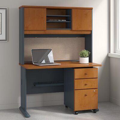 bush business furniture series a 3 piece desk office suite | wayfair