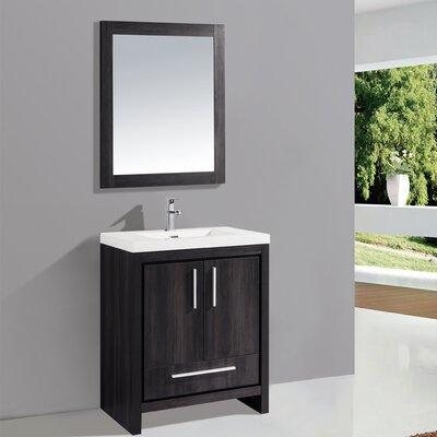 "mtdvanities miami 24"" single sink modern bathroom vanity set with"