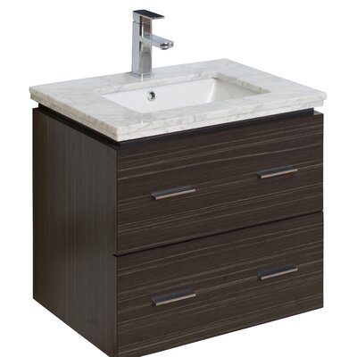 "american imaginations 24"" single modern wall mount bathroom vanity"