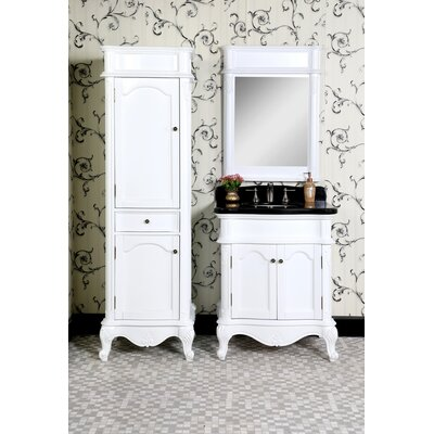 Infurniture Wb 30 Single Bathroom Vanity Set With Linen Tower And Mirror Wayfair