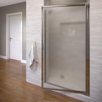 "Framed Sliding Shower Doors basco deluxe 67"" x 24.5"" pivot framed single swing shower door"