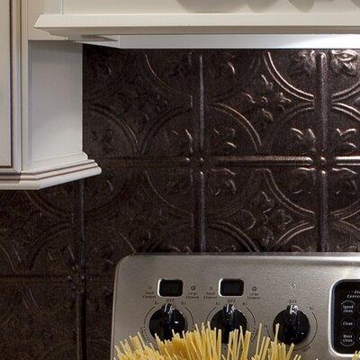 Fasade Traditional 18 25 X 24 25 Pvc Backsplash Panel Kit In Smoked Pewter Reviews Wayfair