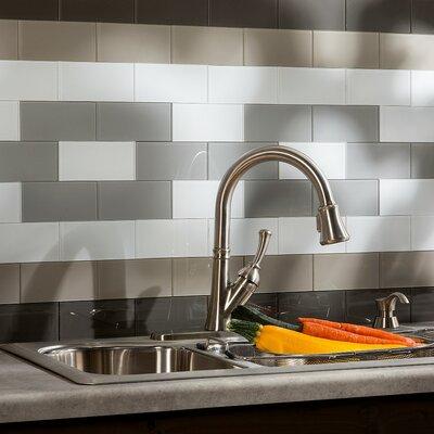 aspect 3 x 6 glass peel stick subway tile kit in frost