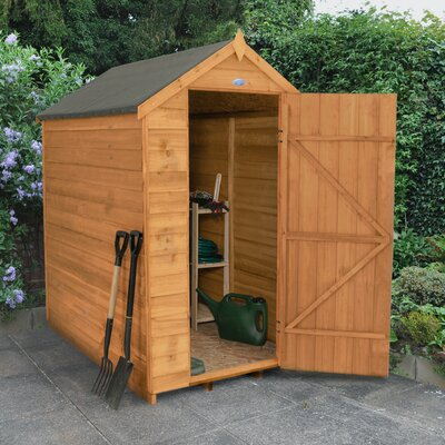 bel tage apex overlap dipped no window 4 ft w x 6 ft d wooden garden shed reviews wayfaircouk